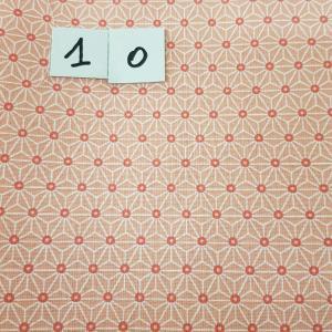 10 tissus lingettes fleurs ocre 10 1