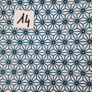 14 tissus lingettes fleurs blc bleu 14