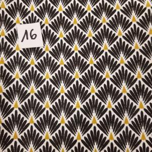 16 tissus lingettes plume noir or 16