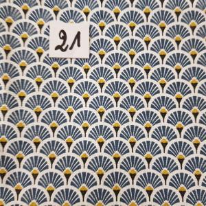 21 tissus lingettes eventail bleu 21