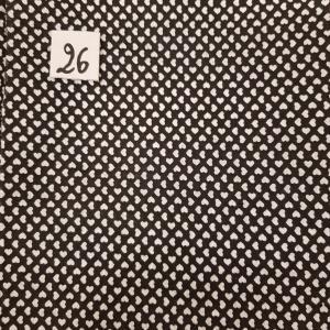 26 tissus lingettes coeur blanc 26