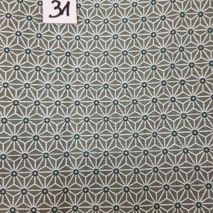 31 tissus lingettes fleurs fd vert 31