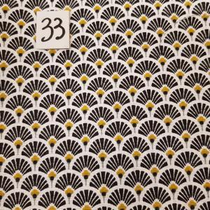 33 tissus lingettes eventail noir 33