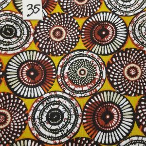 35 tissus lingettes motifs africians 35