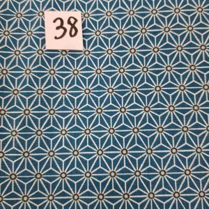38 tissus lingettes fleurs bleu 38