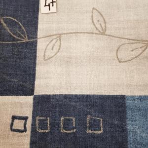 47 tissus lingettes bleu beige 47