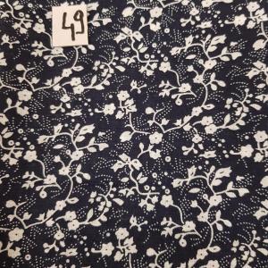 49 tissus lingettes fleurs bl nuit 49