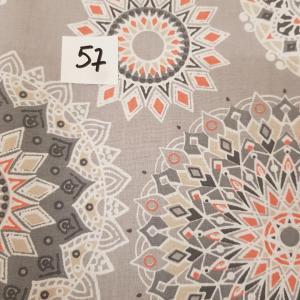 57 lingettes mandala gris 57