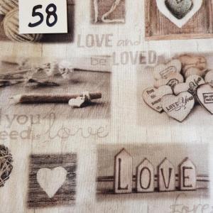 58 tissus lingettes motif coeur 58