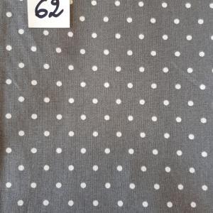 62 tissus lingettes motif pois gris 62