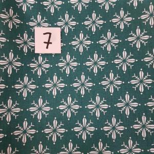 7 tissus lingettes vert fleurs 7 1