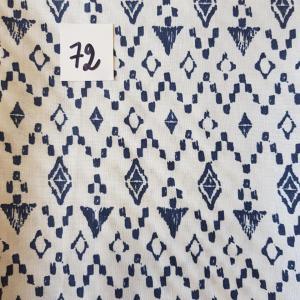 72 tissus losange bleu