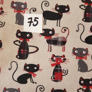 75 tissus chat noir 75