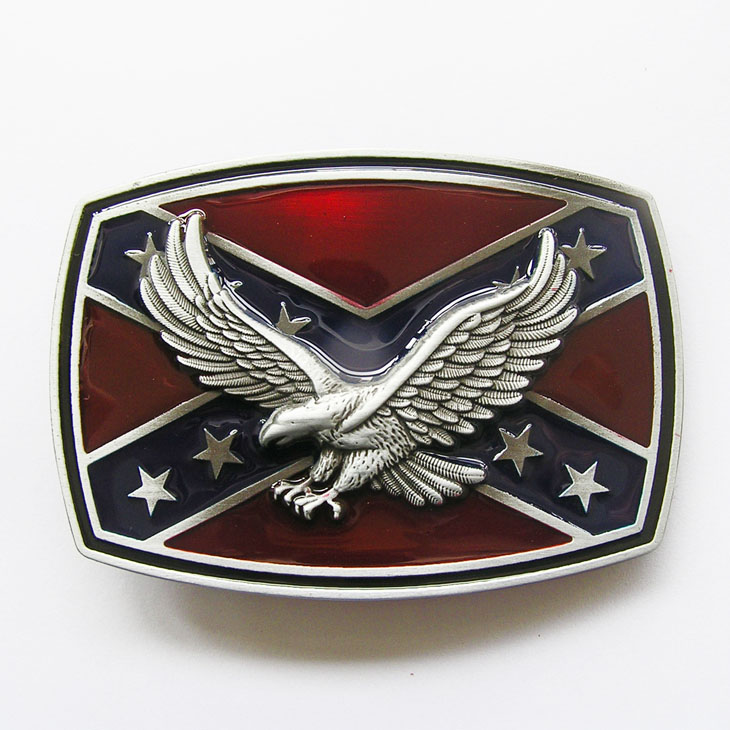 Boucle ceinture drapeau sudiste aigle 3d047