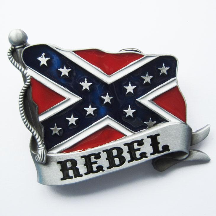 Boucle ceinture drapeau sudiste rebel wt006