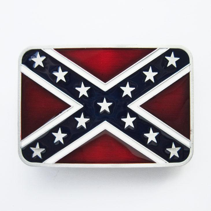 Boucle ceinture drapeau sudiste t152