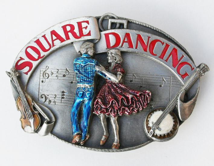 Boucle de ceinture square dancing