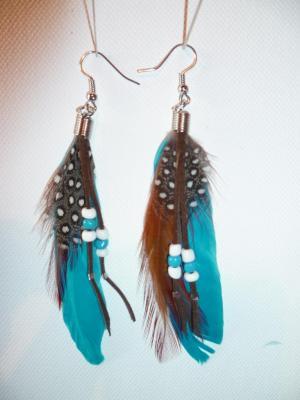 Boucles d'oreilles perles/turquoise