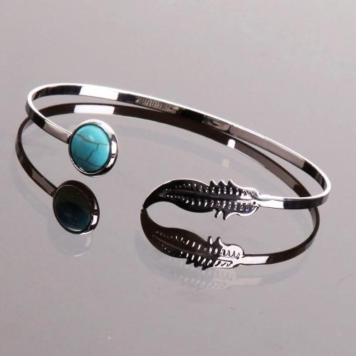 Bracelet plume turquoise