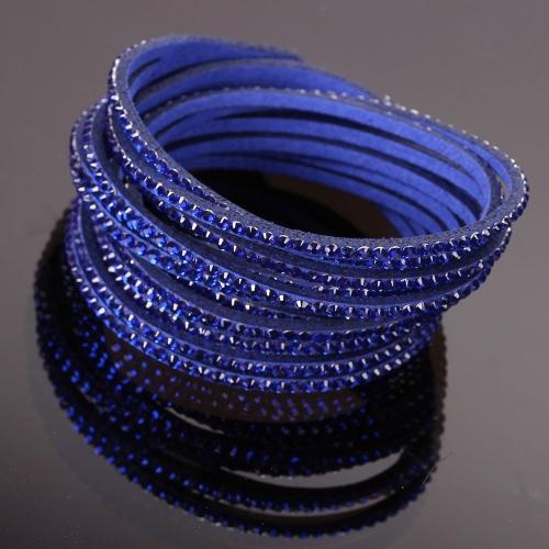 Bracelet strass bleu marine