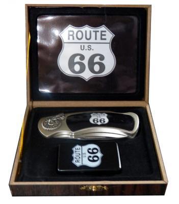 Coffret couteau Route 66
