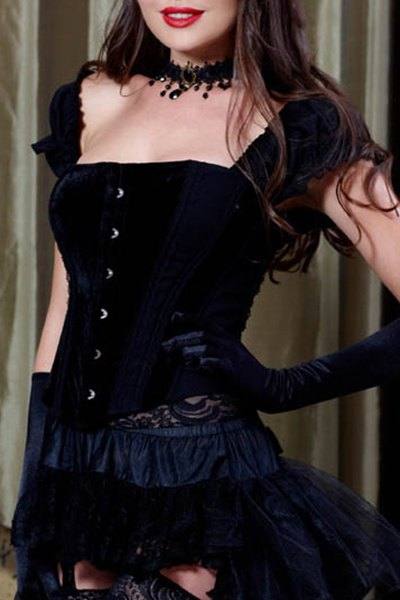Bustier country velours