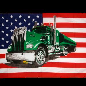 Drapeau camion vert