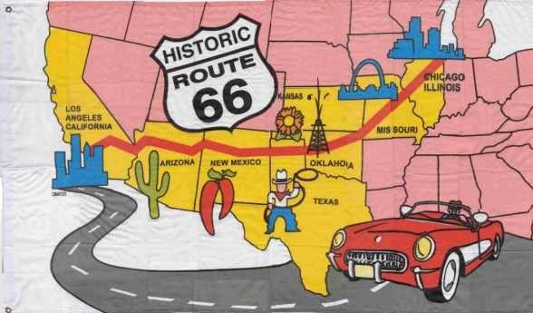 Drapeau route 66 couleur