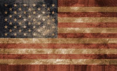 Drapeau USA veilli