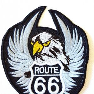Ecusson aiglebecajune route 66 petit 1
