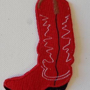 Ecusson botte rouge petit