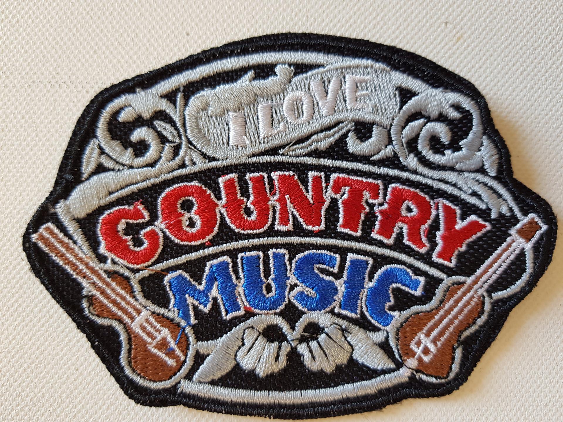 Ecusson country music petit