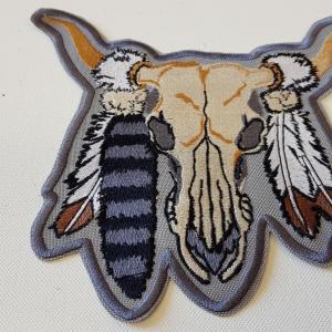 Ecusson crane buffle plume grand