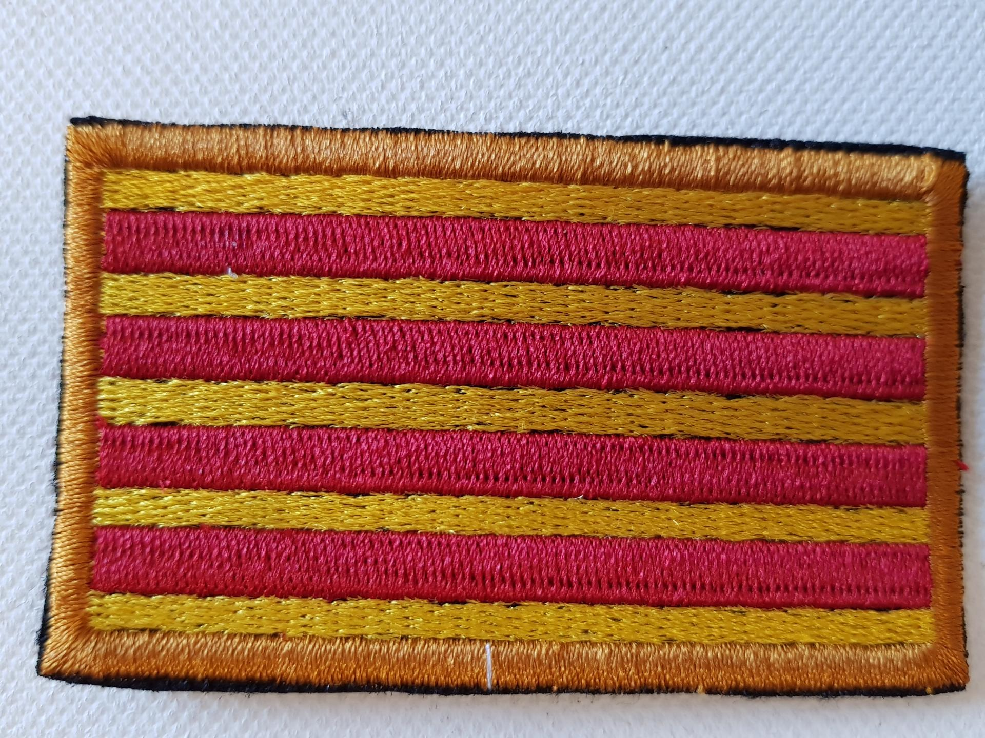 Ecusson drapeau catalan rectangulaire petit