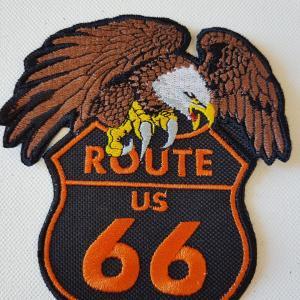 Ecusson route 66 aigle petit