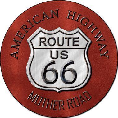 Plaque métal Route 66