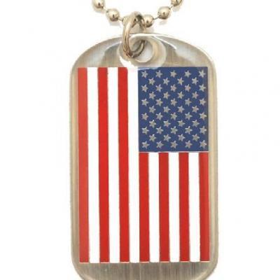 Plaque identité drapeau USA