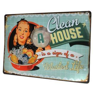 Plaque metal clean house