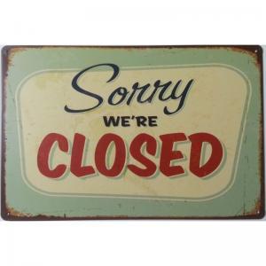 Plaque metal closed