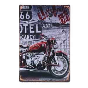 Plaque metal motel route 67