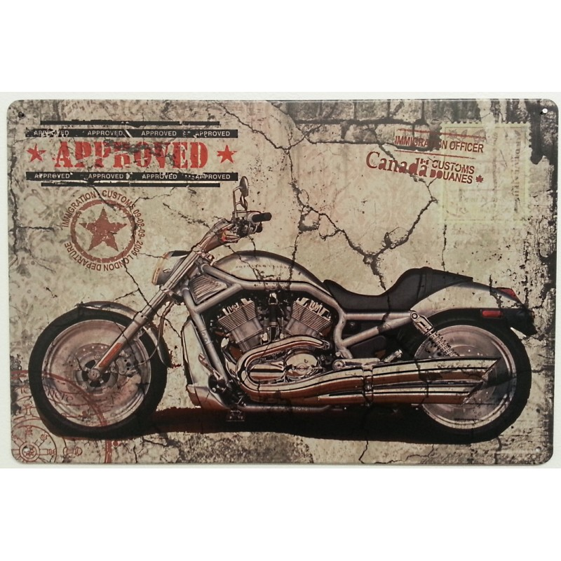 Plaque metal moto approved 1