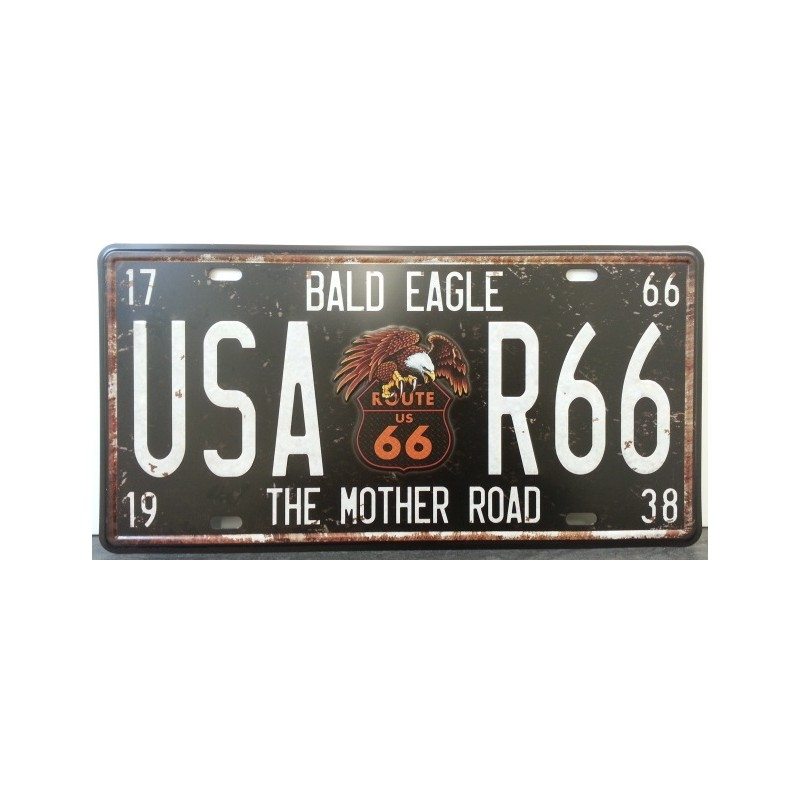 Plaque metal route 66 the mother road 1