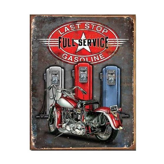 Plaque metallique moto full service