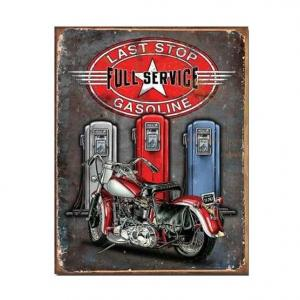 Plaque metallique moto full service