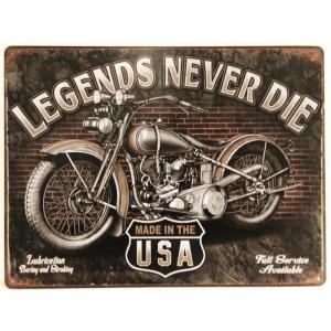 Plaque metallique moto legends 1