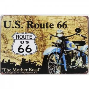 Plaque metallique route 66 the mother road