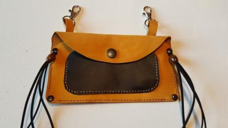 Pochette cuir country 8