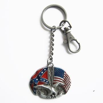 Porte clefs Drapeaux USA et Sudiste