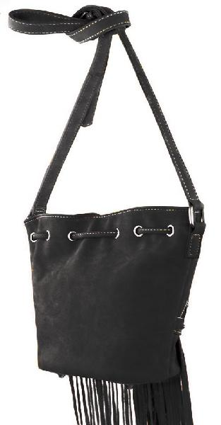 Sac franges noir recto we
